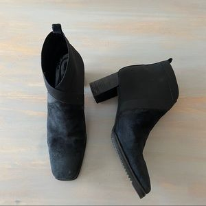 Stuart Weitzman Suede/Nylon Pull-On Ankle Boot 8.5